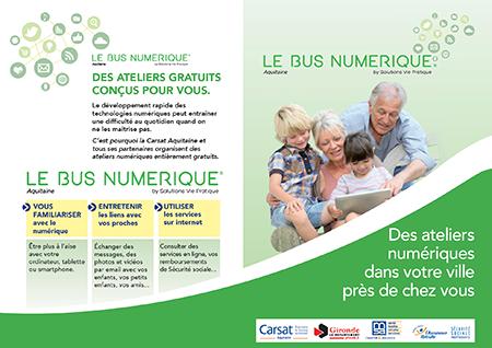 Plaquette du Bus Numérique Aquitaine
